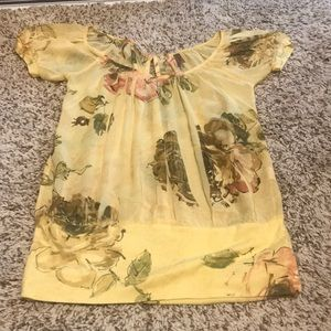 Soft Yellow floral blouse